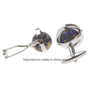 AAA Quality VAGULA Men French Shirt Funny Globe Cufflinks 362 pictures & photos
