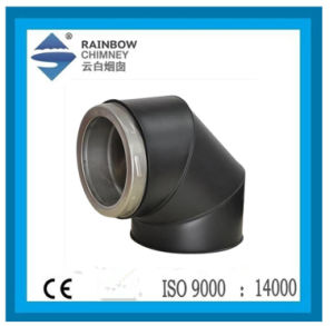 Ce Paint Stove Chimney Pipe 90 Degree Elbow pictures & photos