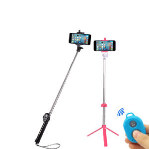 Multi-Function 3-in-1 Bluetooth Cellphone/Mobile Camera Tripod/Monopod Selfie Stick with Flash-Lamp Function