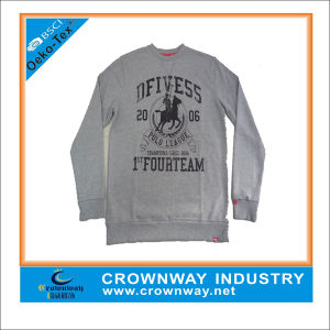 French Terry Wholesale Crewneck Sweatshirt with Pockets pictures & photos
