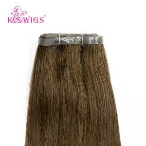 100% India Human Virgin Keratin PU Skin Weft Hair Extension pictures & photos