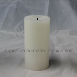 Christmas Realistic Amber Candle Flickering Indoor Wax LED Pillar Candle with Wick Flame pictures & photos