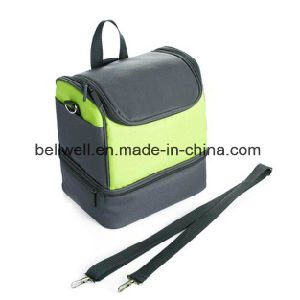 Soft Insulated Cool Wine Lunch Cooler Bag with Zip Closure pictures & photos