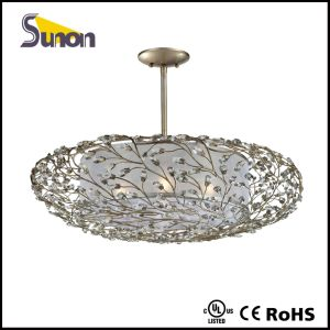 Comtempary Luxury Crystal Fabric White Pendant Light /Foryers with UL pictures & photos