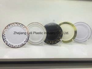 Plastic Plate, Disposable, Tableware, Tray, Dish, Colorful, PS, SGS, Hot Stamp Plate, PA-01 pictures & photos