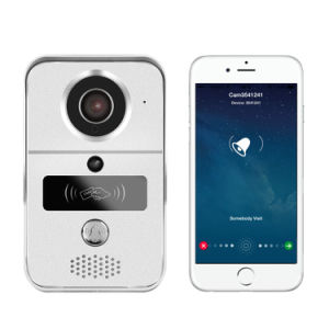 720p H. 264 Smart IP Video Doorbell/ WiFi Doorbell with Microsd Fully Duplex Intercom, IR Cut