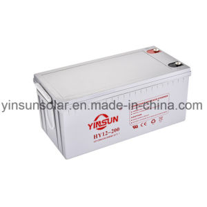 12V 200ah Reliable Quality Gray Solar Battery with 12 Months Warranty pictures & photos