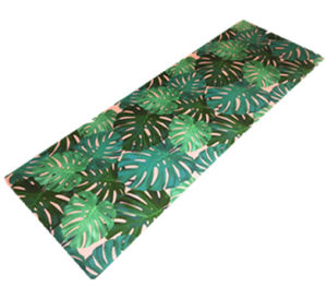 Custom Printed Microfiber Yoga Mat Eco Natural Rubber Foldable Machine Washable pictures & photos