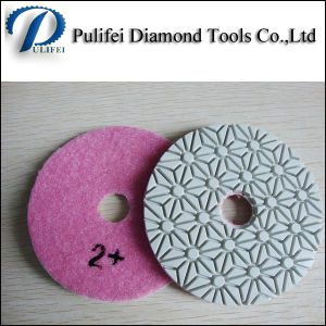 100mm 3 Steps Wet Polishing Pad for Stone
