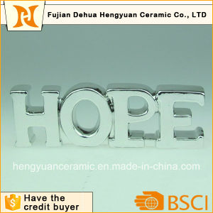 Letters Shape Silver Electroplate Ornaments for Home Decoration pictures & photos