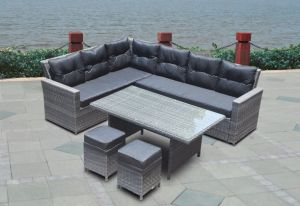 Home Office Hotel Patio Garden Lounge Hot Outdoor Dining Restaurant Table and Sofa (J545) pictures & photos