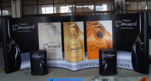 Aluminum Portable Adevertising Backdrop Wall Pop up Display Stand (PU-08) pictures & photos
