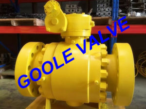 900LB Worm Gear Operated Forged Trunnion Ball Valve (GAQ347N) pictures & photos