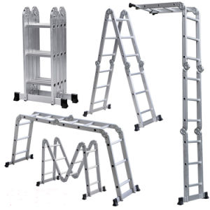 Warehouse Aluminium Step Multifunction Ladder pictures & photos