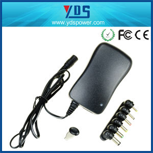 Wall Mounted 12V 30W Switching Universal Power Adapter pictures & photos