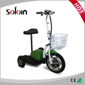 3 Wheel Foldable 350W Mobility Electric Scooter for Disabled on Street (SZE350S-3) pictures & photos