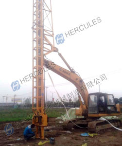 Plastic Vertical Drain Driver Wick Drain Installation Rig on Excavator pictures & photos
