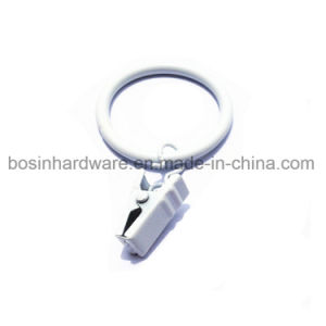White Metal Curtain Ring with Clip pictures & photos