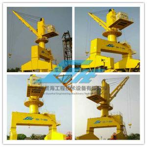 Low Wheel Pressure Mobile Portal Crane pictures & photos