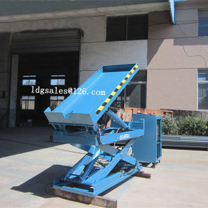 Warehouse Stationary Hydraulic Scisoor Lift Table with Tiltable Platform (SJG0.4-0.7) pictures & photos