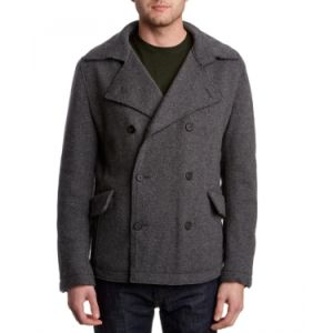 100% Wool Double Breasted Short Coat for Men pictures & photos