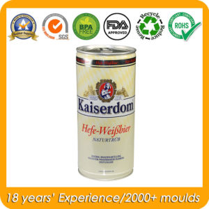 Round Tin Metal Beer Can with Ring Pull Factory pictures & photos