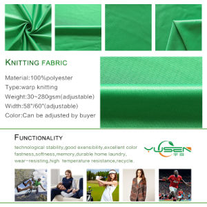 100% Polyester Tricot Warp Knitted Fabric Dazzle Plain Fabric for Garments pictures & photos
