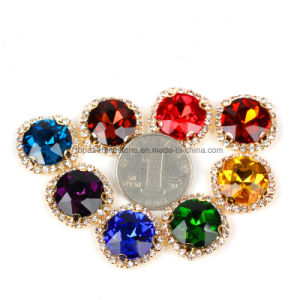 Handmade Round Crystal Sew on Claw Setting Rhinestone Beads (SW-Round 16mm) pictures & photos
