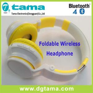 Fashion Design Noise-Cancelling Overhead Headband Wireless Bluetooth Headphone