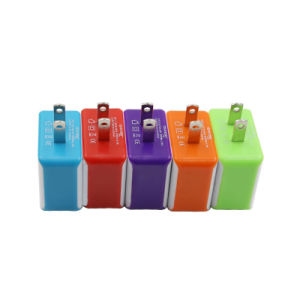 CE Certificated Portable Micro Dual 2 Port USB Wall Charger with EU/Au/Us Plug pictures & photos