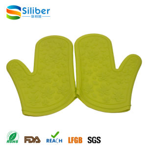 Heat Resistant Silicone BBQ Grill Oven Gloves for Cooking, Baking pictures & photos