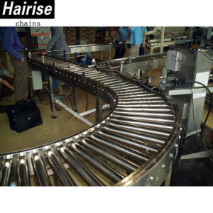 Stainless Steel/Carbon Steel Gravity Curved Steel Roller Conveyor pictures & photos