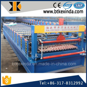 Kxd 988 Galvanized Steel Corrguated Plate Roll Forming Machine pictures & photos