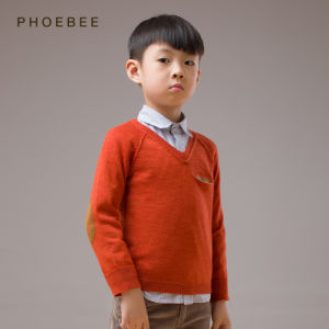 Wholesale Orange 100% Wool Knitting/Knitted Boys Clothes pictures & photos