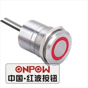 Onpow 25mm Touch Switch with Large Light (TS25D-10/RG/5V/S, CE, RoHS) pictures & photos