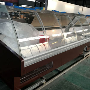 Ce Approved Meat Display Cooler Meat Counter with Open Front pictures & photos