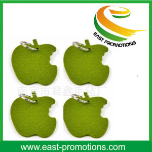 Green Apple Shaped Polyester Felt Key Chain pictures & photos
