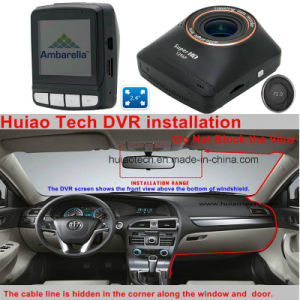 "2.4""Ambarella A7la50 2k Resolution Super 1296p Car DVR Built-in G-Sensor, 5.0mega camera, Hdr, WDR, Motion Dectection Function DVR-2404 pictures & photos"