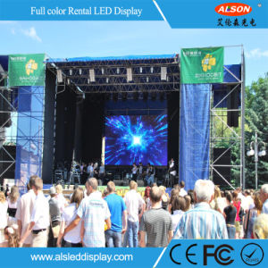 Die-Casting Aluminum P4 Outdoor Rental LED Video Wall for Stage pictures & photos