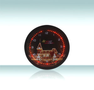 Novelty Christmas Light Emitting Digital Clock with LED Display Light pictures & photos