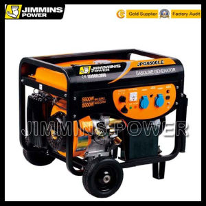 6kw 6kVA 6000W EPA Engine Air Cooled Single/Three Phase Gasoline Portable Electric Generator Price (110/220/230/240/250V 50Hz 3000rpm JPG7000L) pictures & photos