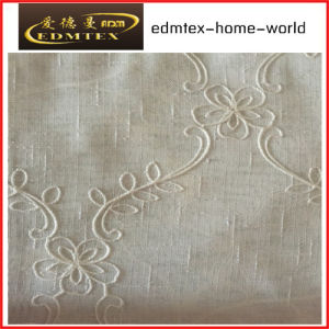 Fashion Embroidered Organza Curtain Fabric EDM2043 pictures & photos