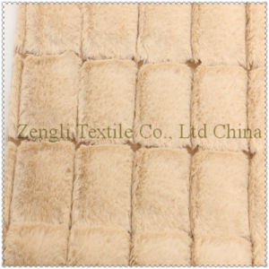 Block 100% Polyester of Woolen Overcoat Fabric