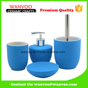 Ceramic or Porcelain Bathroom Set with Rubber Surface Finished pictures & photos
