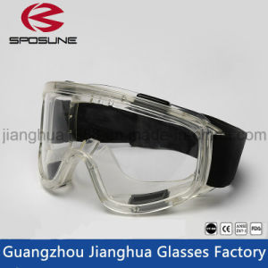 Transparent Ce En 166 Ventilate HD Vision Crashproof Safety Gogles Splashproof Anti-Fog Big Eye Ptotection Goggles pictures & photos