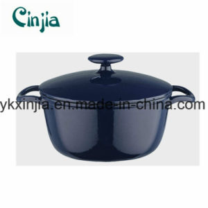 Blue Round Cast Iron Casserole Cookware Set with Lid-Xjt69 pictures & photos