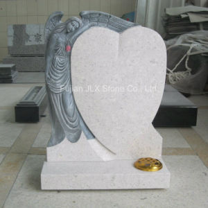 Pearl White Granite Antique Angel Sculpture Tombstone pictures & photos