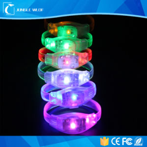 Festival Motion Activated Flashing Light up LED Bracelet with Logo Print pictures & photos