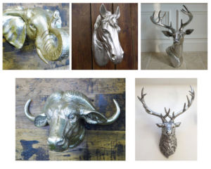 Wall Mounted Animal Heads Horse Bull Cow Stag Garden Ornament Metal Resin Decor pictures & photos
