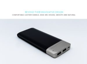 Two Output LED Indicator Polymer Slim Power Bank 9000mAh pictures & photos